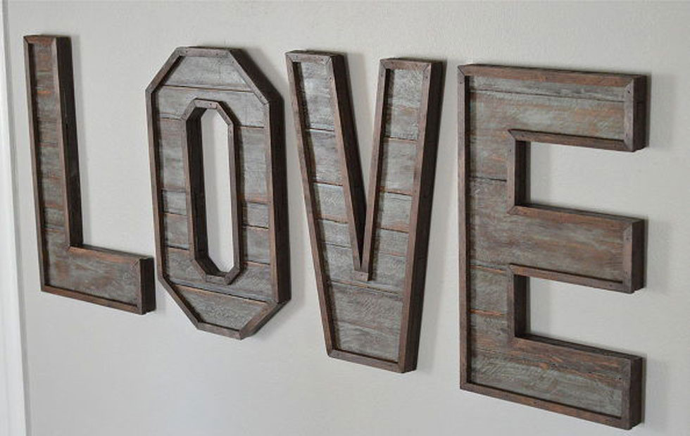 Pallet Wood Letters Crafts Diy